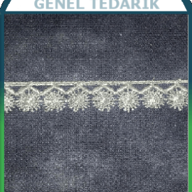 HAYMANALI BRODE Güneş Güpür Polyester Beyaz 1,5cm (Fiyat:Metre) '