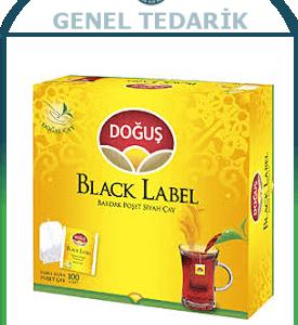 DOĞUŞ ÇAY , Black Label Süzen poşet 100adet x 2gr ~