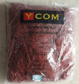 Ycom Paket Lastiği, 7cm Kırmızı, 1 Kg ''