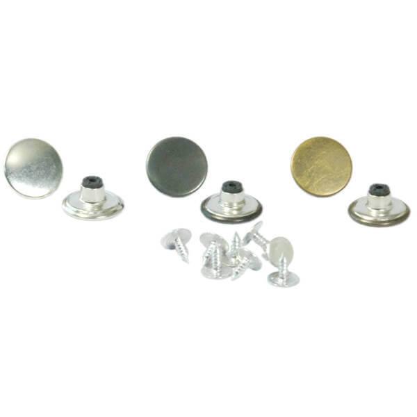 17 mm Sac Kot Düğmesi + Çivisi 1000li (Takım) ''
