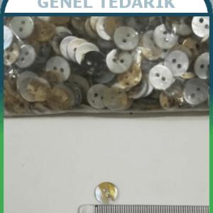 14 Boy 9 mm Orjinal Sedef Düğme ~