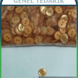 14 Boy 9 mm Turuncu Sedef Düğme ~