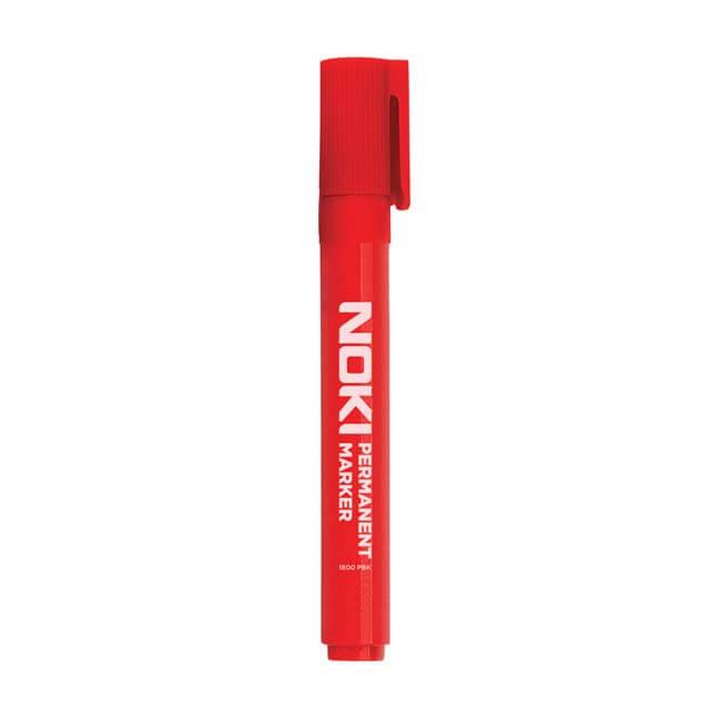 Noki Permanent Marker - Silinmez Kalem - Kırmızı - 12'li Kutu ''