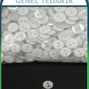 18 Boy 2 Delikli Sedef Beyaz Düğme ~