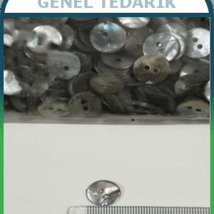18 Boy 11,5 mm Orjinal Sedef Düğme ~