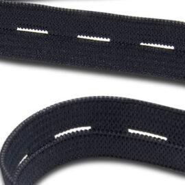 1.5 cm İlikli Siyah Lastik (METRE) Takviyeli ''