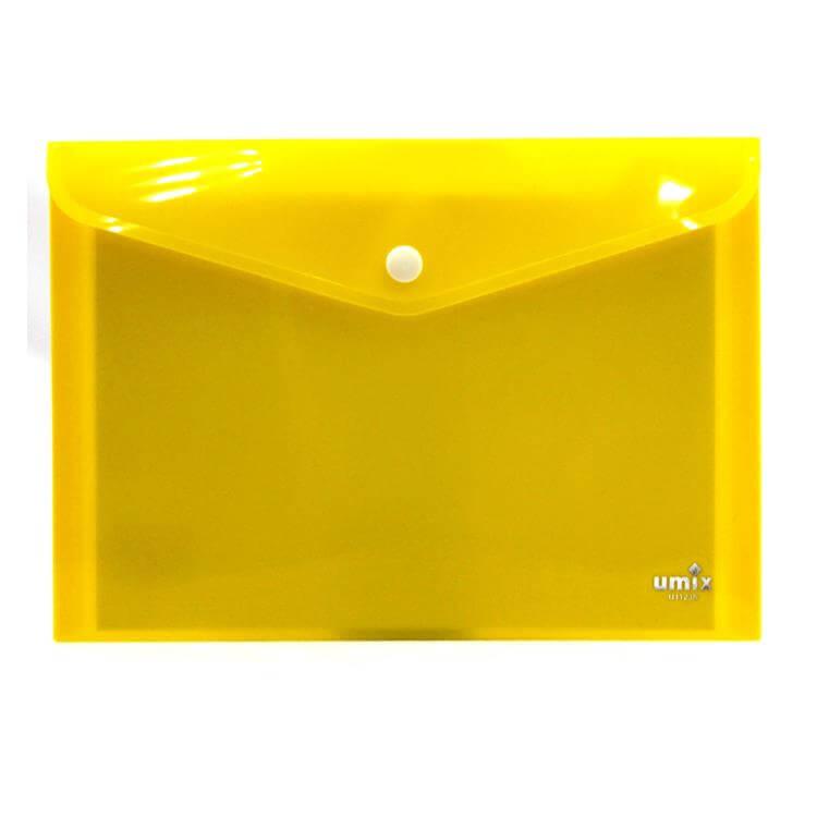 Umix A6 Çıtçıtlı Zarf Dosya - Sarı Neon (U1124N-YE) ''