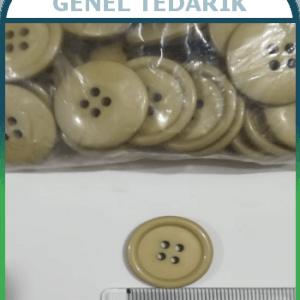 36 Boy 23 mm Krem 4 Delikli Düğme (Adet) ~
