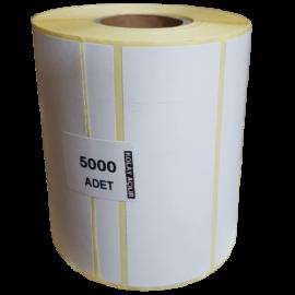 Termal Etiket Sticker 20mmx40mm 5'li 5000'li ''