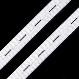 1.5 cm İlikli Beyaz Lastik (METRE)  Takviyeli ''