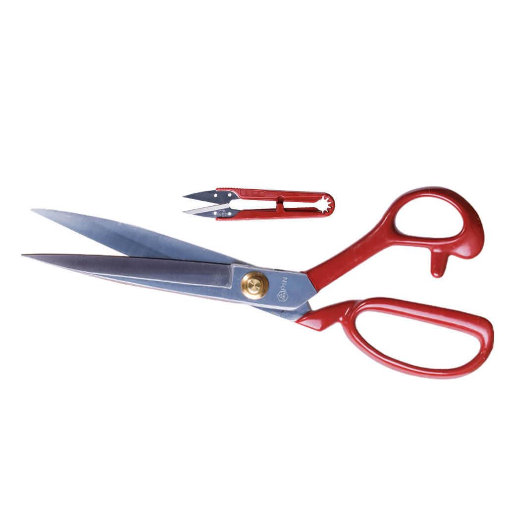 PIN, Kırmızı Saplı Kumaş Makası 8'' -Temizleme Makası Hediye ''