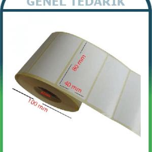 Kuşe Etiket Sticker 80mmx40mm -1000'li *