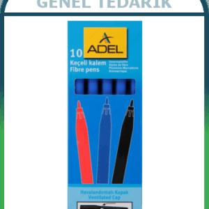 ADEL Mavi Keçeli Kalem 10 Adet/Kutu ~