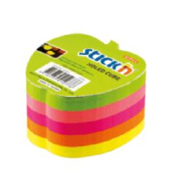 GIPTA Stickn 70x70 Neon 5 Renk Elma Yapışkanlı Not Kağıdı - 400 yaprak ''