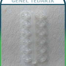 Plastik Çıtçıt - Şeffaf 10 mm (2500'lü) '