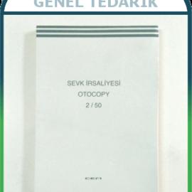 Cem 2/50 Sevk İrsaliyesi Otokopili, 3 Nüshalı - 50 Sayfa