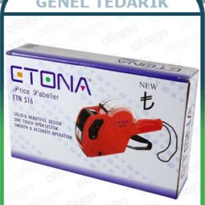 ETONA, ETN 516 - 8 Haneli Fiyat Etiketleme Makinası (Siyah) ~