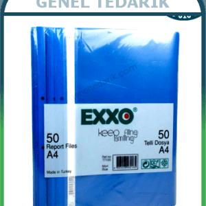 EXXO 50'li Mavi Renk Telli Dosya *