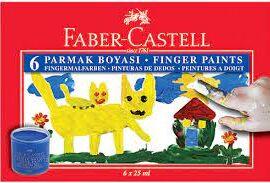 Faber-Castell Parmak Boyası 6 Renk ''