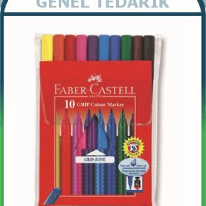 FABER-CASTELL, GRIP Keçeli Kalem - 10 Renk ~