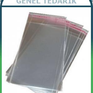 Jelatin Torba OPP Bantlı Delikli 20x35 + 5cm Yapıştırma Payı *