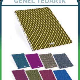 Keskin Color, Flora Dot - Spralli Pp Kapaklı Defter - Kareli A4 (80 yp) '