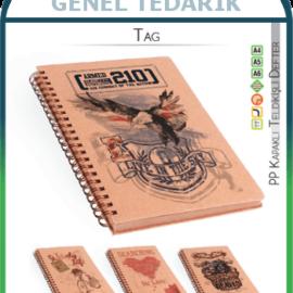 Keskin Tag 410371-99 Kraft Spiralli Sert Kapak Defter - A5 14.8x21 (70gr)