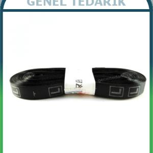L Siyah Saten Beden Etiketi - 1cm ~