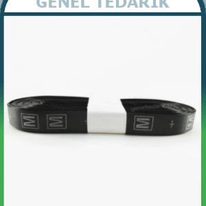M Siyah Saten Beden Etiketi - 1cm ~