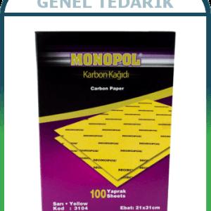 MONOPOL, Karbon Kağıdı - Sarı (100'lü) '