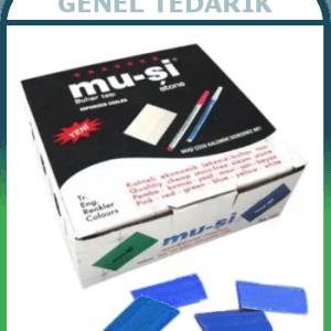 Mu-şi Mavi Uçan Çizgi Taşları 100 Adet/Kutu ~