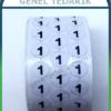 Numaralı Pul Etiket 5000'li –1cm Çap ~
