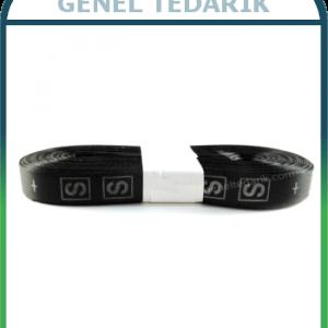 S Siyah Saten Beden Etiketi - 1cm ~