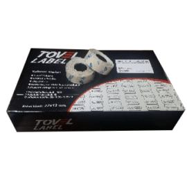 Tovel 2 Çentikli Meto Etiketi 12X22 Beyaz (42ruloX1500adet) ''