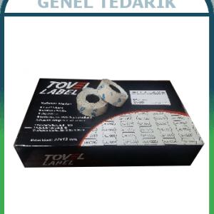 Tovel 4 Çentikli Meto Etiketi 12x22 Beyaz (42ruloX1500adet) ~