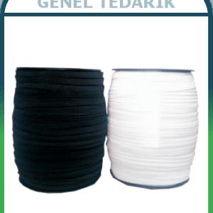 Tres Lastik Siyah Beyaz 1cm (100 Metre) *