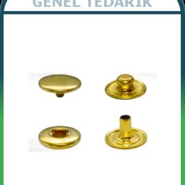 Çıtçıt 54 Sistem, 15 mm Kafa - Pirinç Altın Sarı (720'li)