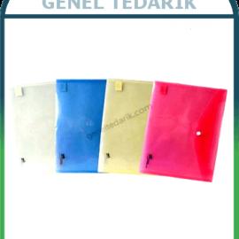 Umix U1120P - PE Çıtçıtlı Zarf Dosya, Mavi ~