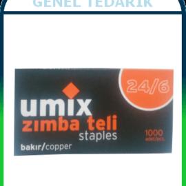 Umix, No:24/6 Zımba Teli - Bakır (1000'li) '