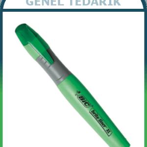 Bic 891398 Brite Liner XL Fosforlu Kalem , Yeşil ~