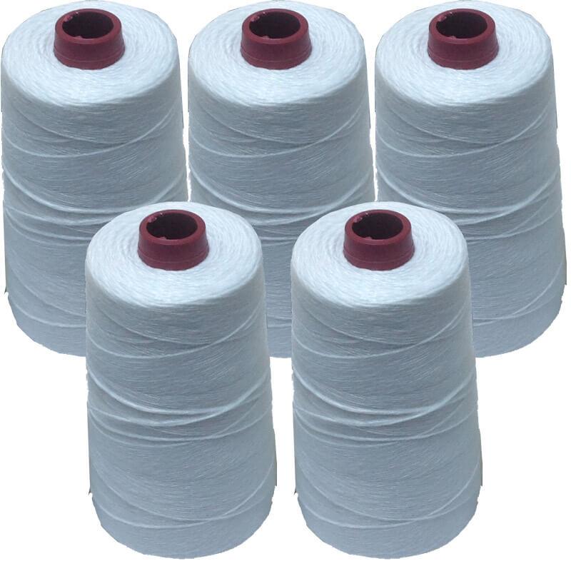 Polyester Çuval Ağzı ( Dikiş ) İpi - Beyaz ( Kg = Fiyat ) ''