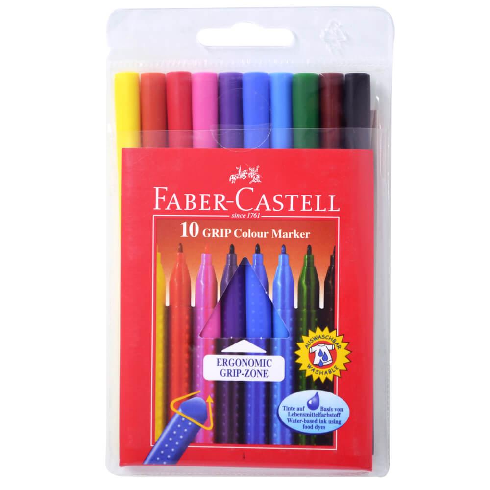 Faber-Castell Grip, Keçeli Kalem - 10 Renk ''