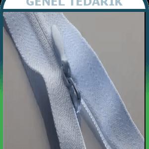 SLS Etek Fermuarı Gizli Diş Gri 20cm - 100 Adet/Paket '