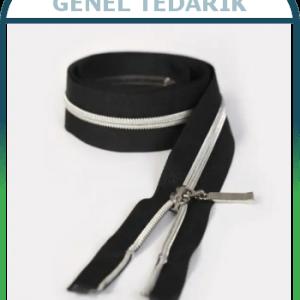 FERACE Fermuarı Gümüş Naylon Diş 100cm - 50 Adet/Paket '