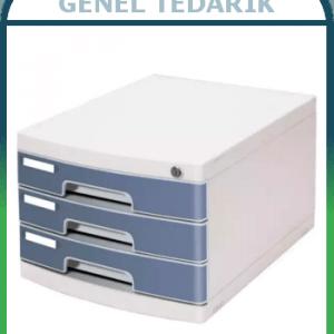 GIPTA F1090 - 3 Çekmeceli Evrak Rafı Krem ~