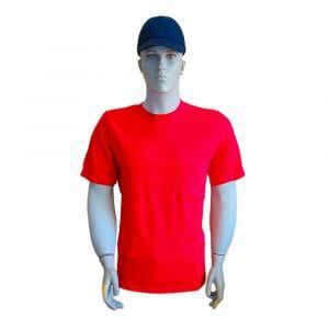 İş kıyafeti, penye kısa kollu bisiklet yaka T-shirt *