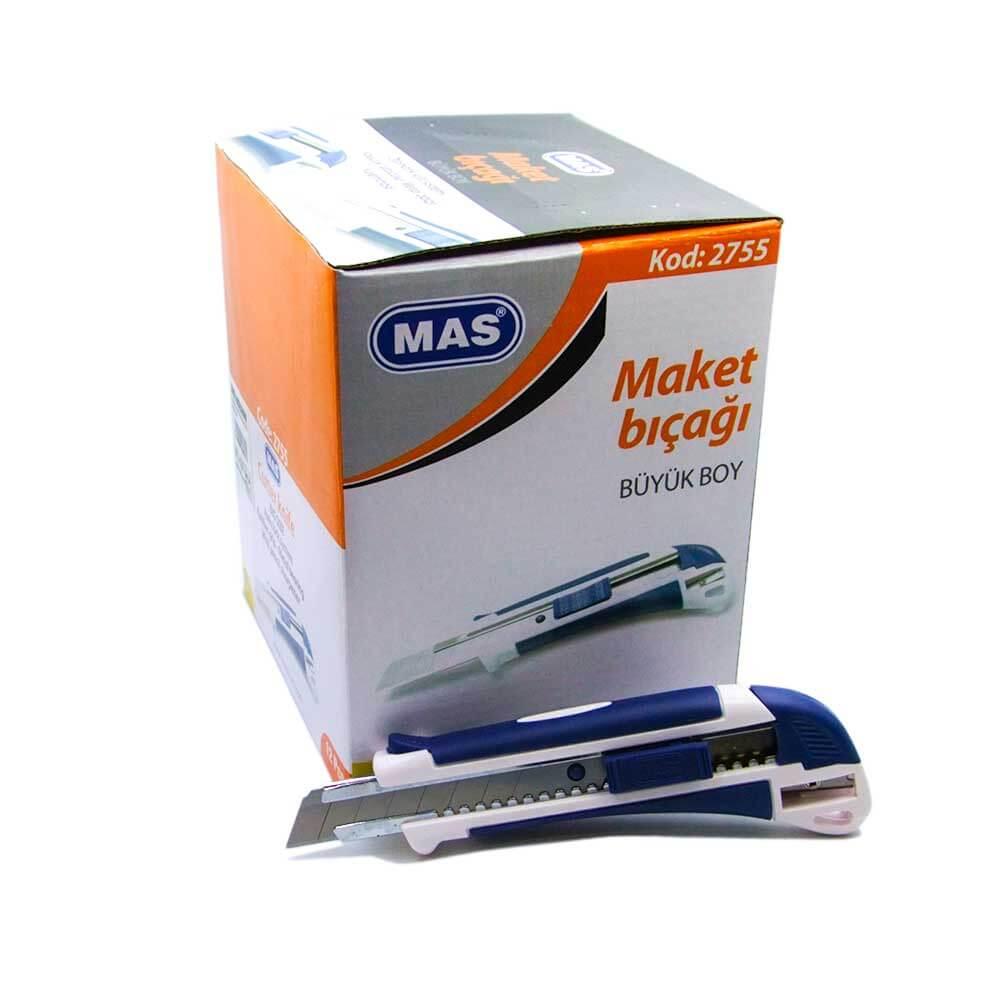 MAS 2755 Büyük Boy Maket Bıçağı Kalemtraşlı No:9 ''