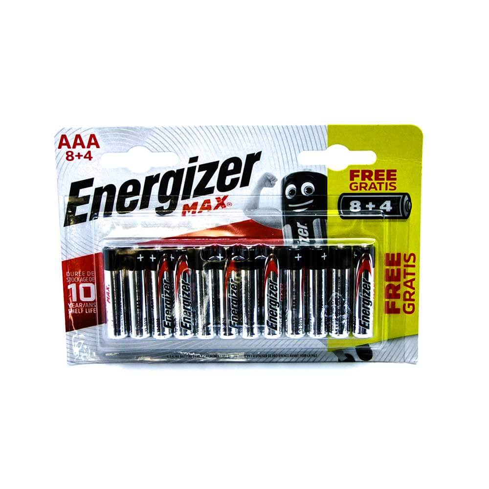 Energizer Max AAA Alcaline Pil - 8+4 ''