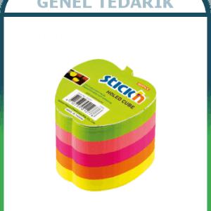 GIPTA Stickn 70x70 Neon 5 Renk Elma Yapışkanlı Not Kağıdı - 400 yaprak ~