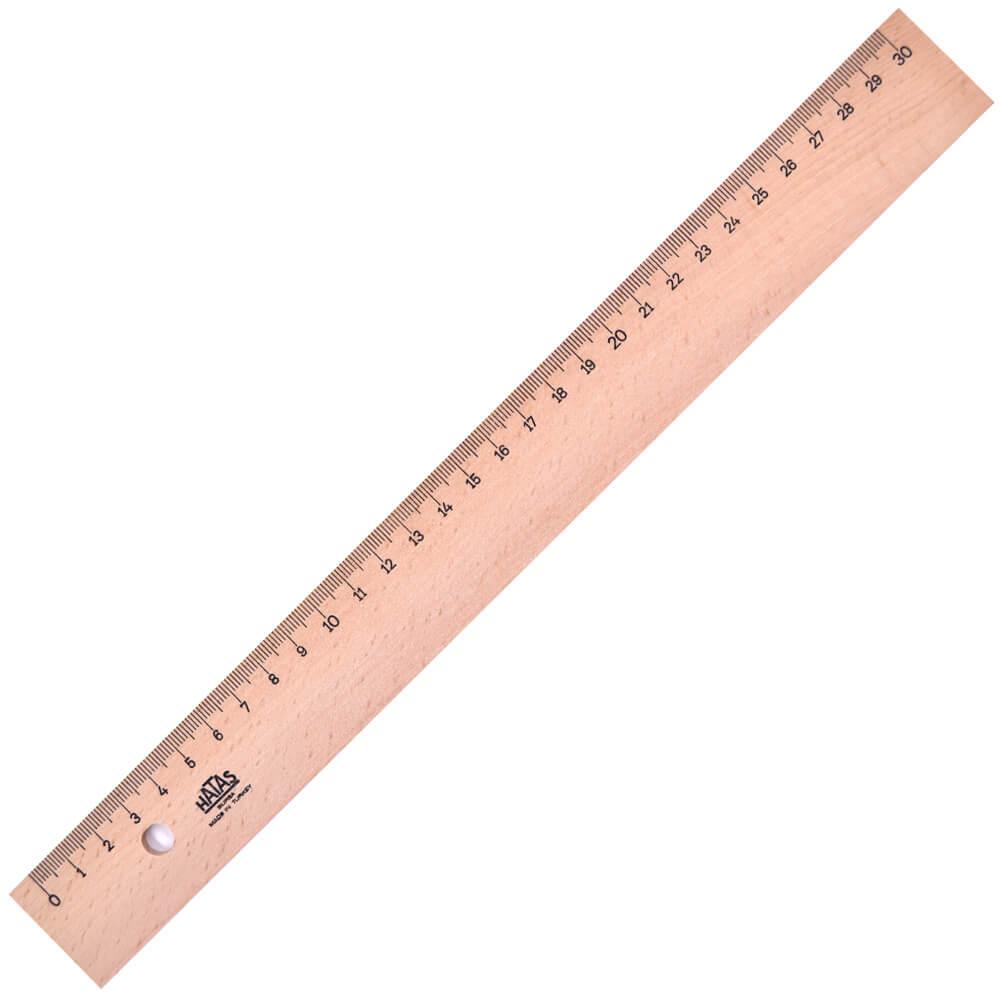 HATAS, cetvel tahta 30 cm takviyeli ''